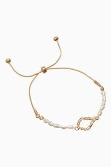 Pearl Effect Pully Bracelet