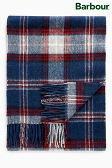 Barbour® Navy/Red Check Scarf