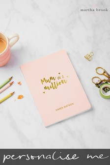 Personalised Mum In A Million A5 Notebook by Martha Brook
