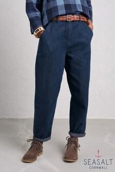 Seasalt Blue Scots Pine Trouser Mid Indigo