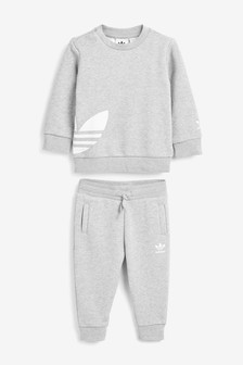 adidas Originals Infant Grey Crew And Joggers Set