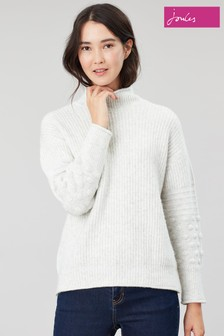 Joules Kalia Bobble Stitch Sleeve Jumper