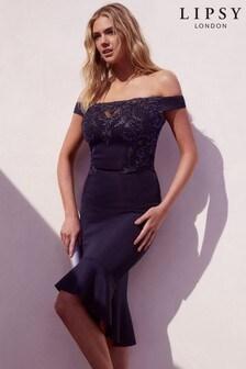 Платье с вышивкой и отделкой пайетками Lipsy