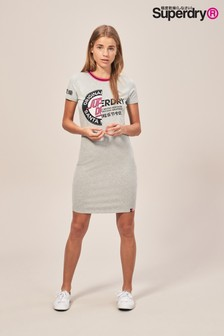 Superdry Grey Bodycon Tee Dress