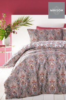 Maison Exclusive To Next Natalee Paisley Geo Duvet Cover and Pillowcase Set