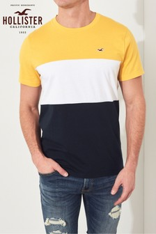 Hollister Yellow Short Sleeve Crew