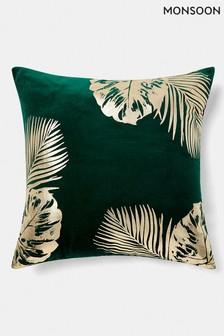 Monsoon Leaf Print Cushion