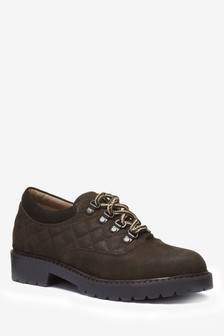 Leather Hiker Lace-Up Shoes