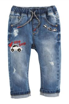 Embroidered Car Jeans (3mths-6yrs)