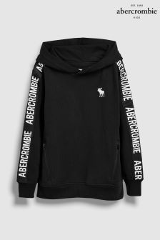 Abercrombie & Fitch Black Taped Overhead Hoody
