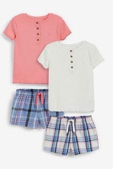 2 Pack Cotton Pyjamas (3-16yrs)