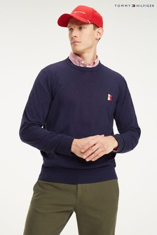 Tommy Hilfiger Blue Badge Performance Organic Cotton Sweater