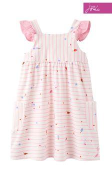 Joules Cream Lolly Stripe Tyler Dress