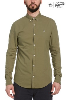 Original Penguin® Green Solid Oxford Shirt