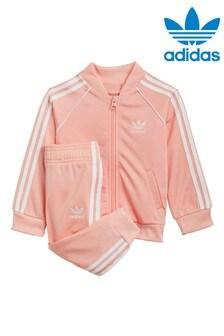 adidas Originals Infant Pink Superstar Tracksuit
