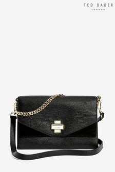 Ted Baker Black Clasp Body Bag