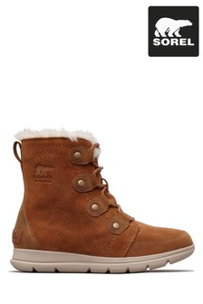 Sorel® Camel Explorer Joan Suede Lace-Up Boot