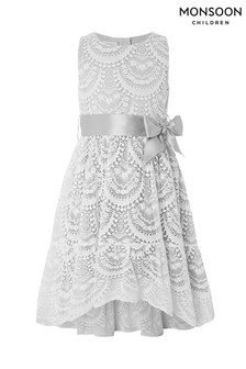 Monsoon Grey Ines Lace Dress