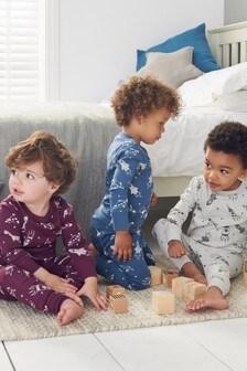 3 Pack Rocket Snuggle Pyjamas (9mths-8yrs)