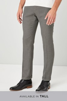 Brushed Puppytooth Skinny Fit Trousers