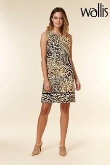 Wallis Animal Petite Border Pinny Dress