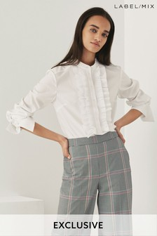 Mix/Teija Ruffle Bib Shirt