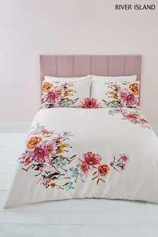 River Island Floral Print Duvet Cover And Pillowcase Set