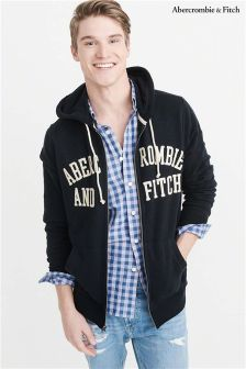 Abercrombie & Fitch Logo Zip Through Hoody