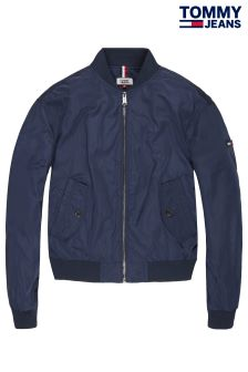 Tommy Jeans Blue Essential Bomber Jacket