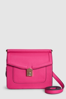 Lock Front Across-Body Bag