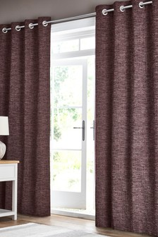 Marled Chenille Eyelet Curtains