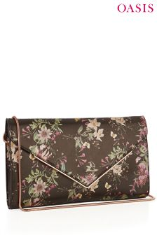 Oasis Black Secret Garden Clutch
