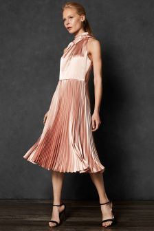 Ted Baker Pink Pleated Dress