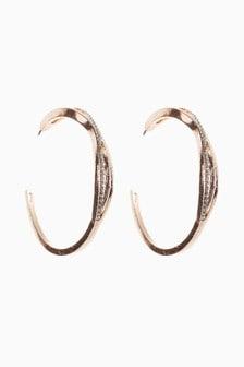 Diamanté Effect Hoop Earrings