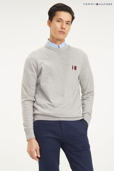 Tommy Hilfiger Grey Badge Performance Organic Cotton Sweater