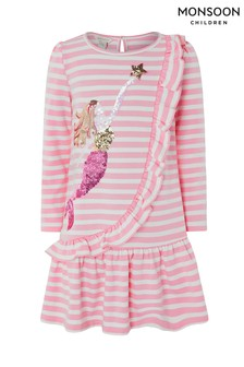 Monsoon Pink Millie Mermaid Sweat Dress