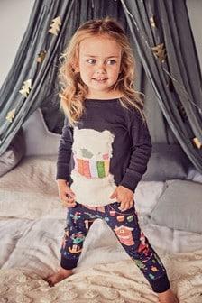Voľné pyžamo s vianočnou potlačou (9 mes. – 8 rok.)