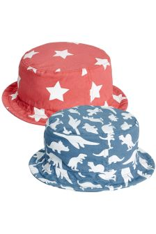 Star/Dino Fisherman's Hats Two Pack (Younger)