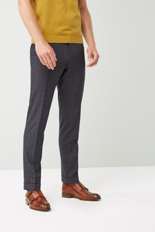Skinny Fit Check Suit: Trousers