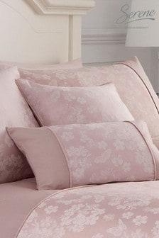 Serene Pink Blossom Cushion