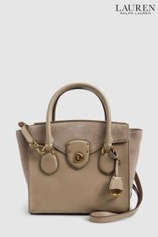 Lauren Ralph Lauren® Taupe Suede Tote Bag