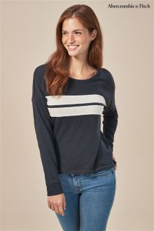 Abercrombie & Fitch Long Sleeve Stripe Tee