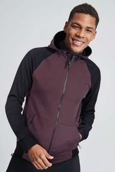 Tech Block Zip Through Hoody
