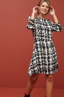 Flute Sleeve Dress