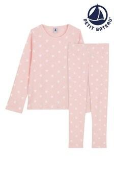 Petit Bateau Pink/White Star Pyjamas