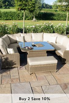 Winchester Royal U Shape Sofa Set With Rising Table By Maze Rattan