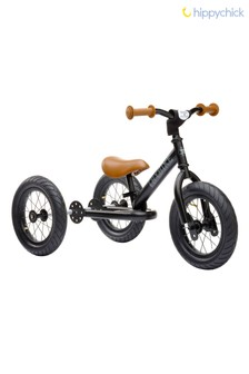 2-In-1 Black Vintage Balance Bike by Hippychick