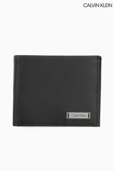 Calvin Klein Smooth Plaque Slim Bifold Wallet