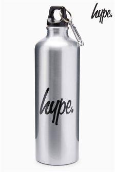 Hype. Silver Water Bottle