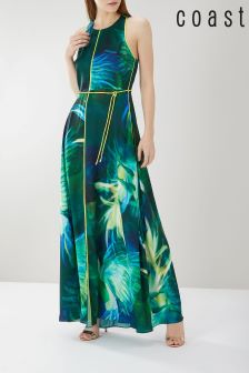 Coast Green Montego Print Maxi Dress